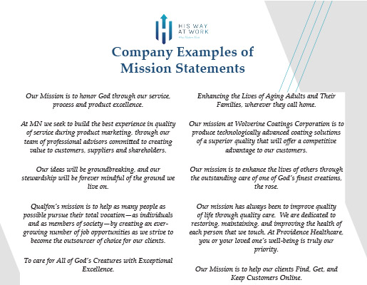 Sample Business Mission Statements Examples Of Mission Oukasfo